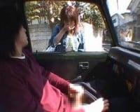 【センズリ鑑賞】車内センズリの様子を街行く女性に無理矢理見せるド変態M男