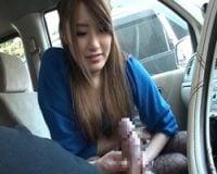 【センズリ鑑賞】ドライブセンズリカー3 好みの女性を前にギンギンフル勃起したペニス-セんずり鑑賞 無料