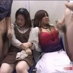 【センズリ鑑賞】「ちょww近いwwww」初めてのセンズリ鑑賞にパニック寸前の素人女子たち