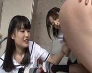 【連続射精】「これはイッパイ搾り取れそう♪」学校関係者からザー汁を搾取して回るお嬢様学園連続射精クラブのお仕事【乳搾り手コキ】