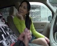 【センズリ鑑賞】人に見られそうなスリルにシラフの素人女性が次第にムラムラ♡センズリドライブデートへGO!【フェラ抜き】