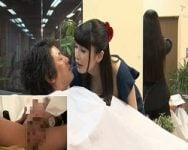 他のスタッフや客から見えないところでチンポに手を伸ばす… 痴女のいる美容院