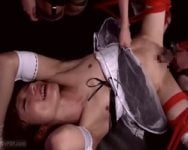 【男の潮吹き】『だめぇ~壊れちゃうぅ!!』ケツマンコがん堀りバイブで前立腺をクタクタになるまで穿られた女装美少年が堪らずお漏らし!【前立腺責め】