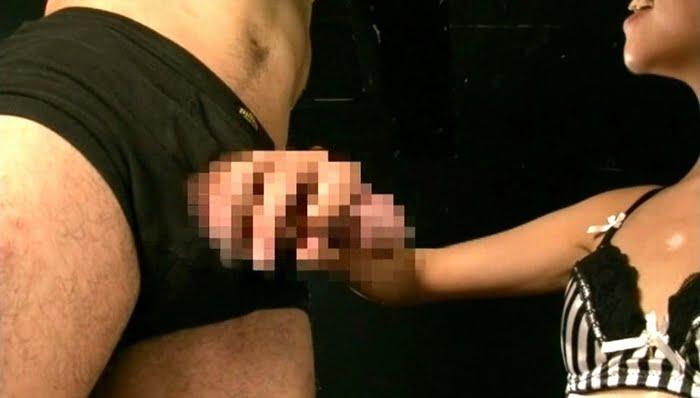 【男の潮吹き】マゾチンポが潮を吹くまで徹底的に追い込む手コキ拷問 その8