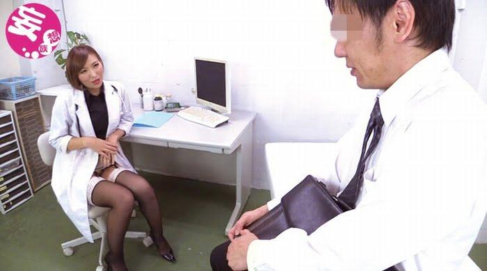 ED患者のチンポを無理やりシゴいて男の潮吹きさせる痴女医 その3